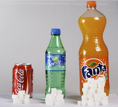 hur många sockerbitar innehåller cola