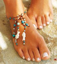 få fina fötter