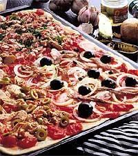pizza på plåt