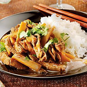 biff med bambuskott recept