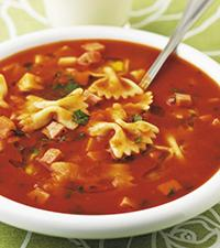 spagetti soppa recept