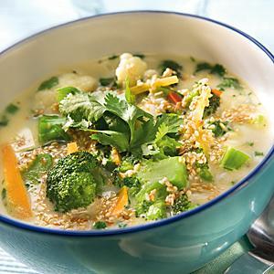 Asiatisk vegetarisk soppa
