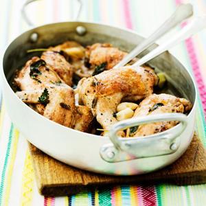 örtkryddad kyckling i ugn
