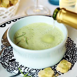 soppa med champagne