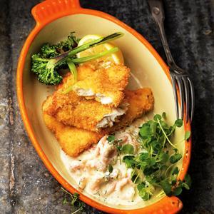 panerad torsk recept