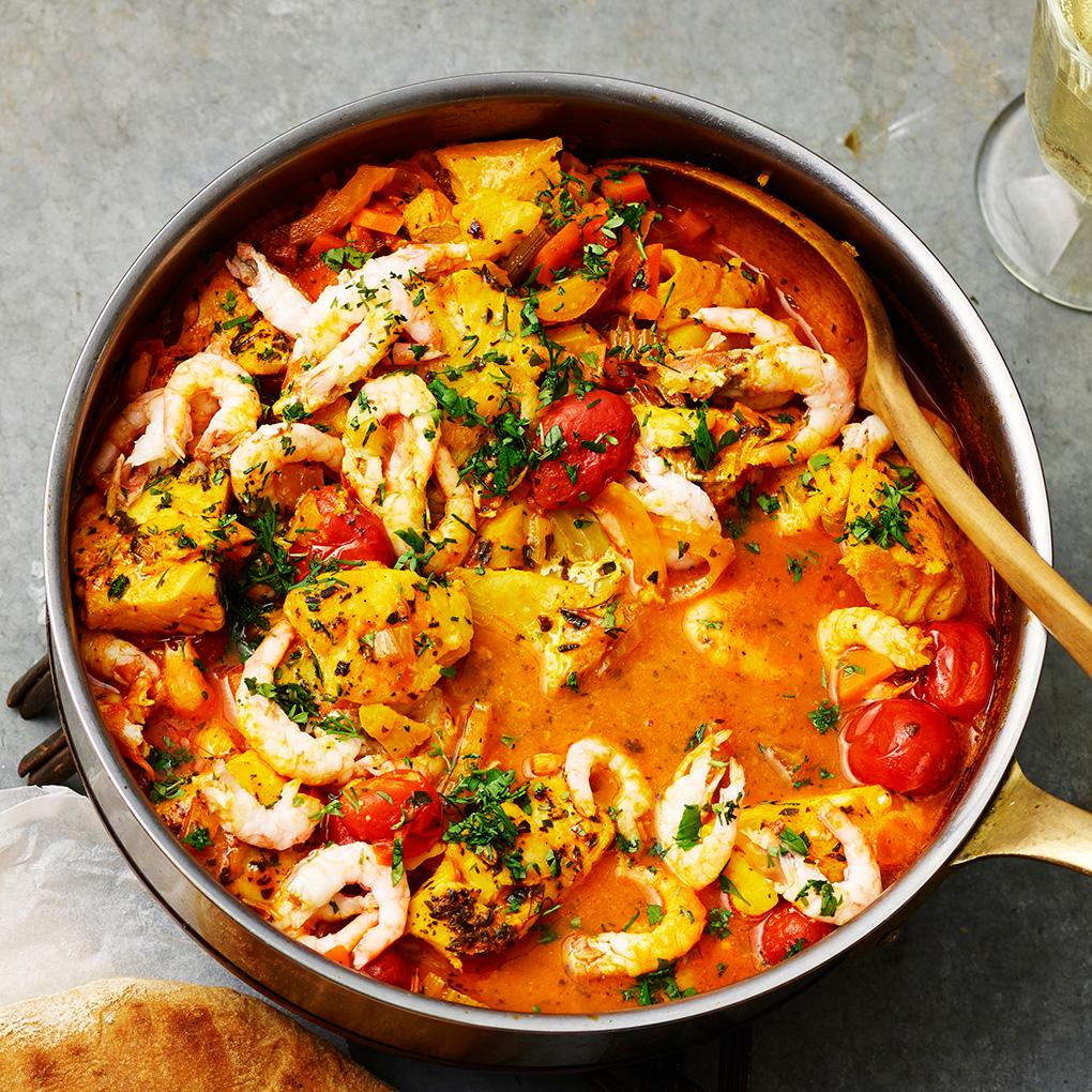 fiskgryta med saffran och tomat ica
