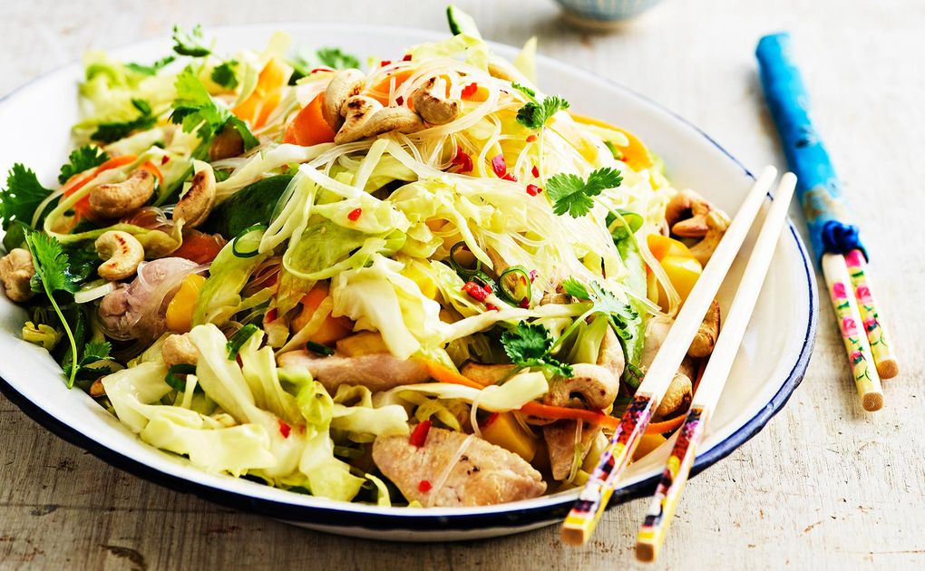 glasnudlar recept kyckling