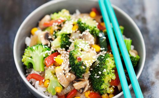 Broccoliwok med sweet chili