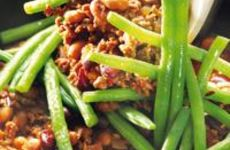 Chili con carne med haricots verts